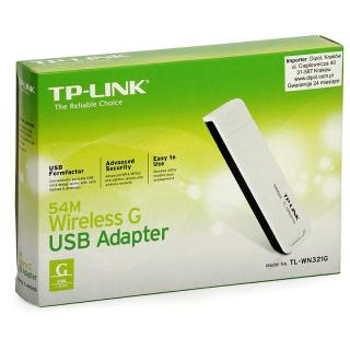 TP-LINK TL-WN321G 54Mbps KABLOSUZ USB ADAPTOR